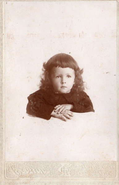 Jan Foles Mowat - at 2 years, 4 months - Ashland, Oregon (FRONT)