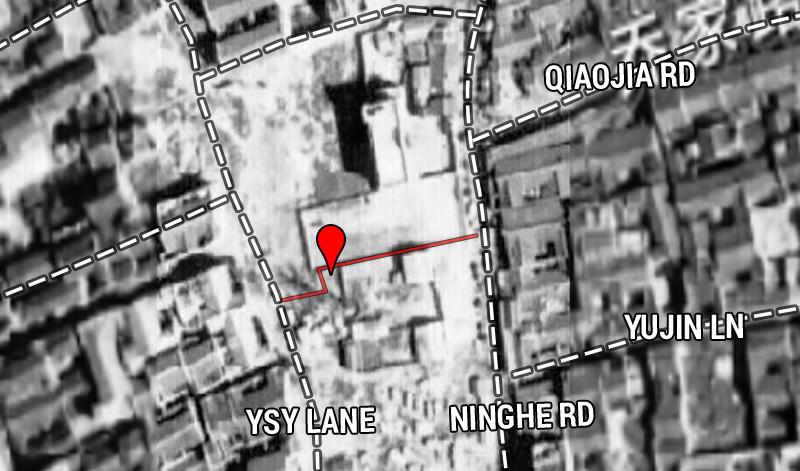 1948 aerial photo. Source: https://www.shanghai-map.net