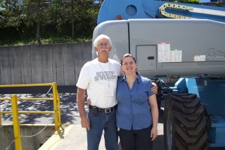 Dad and I at the Genie plant 2009