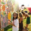 rhianna painting with friends