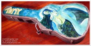 mermaid guitar case