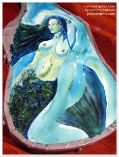 mermaid guitar case, close up