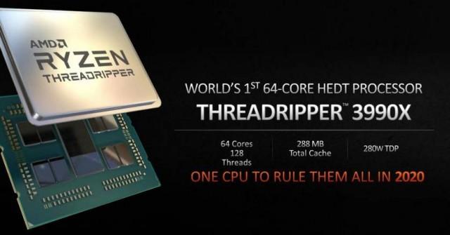 Новый Ryzen Threadripper 3990X «порвал» флагманский процессор Intel в бенчмарке
