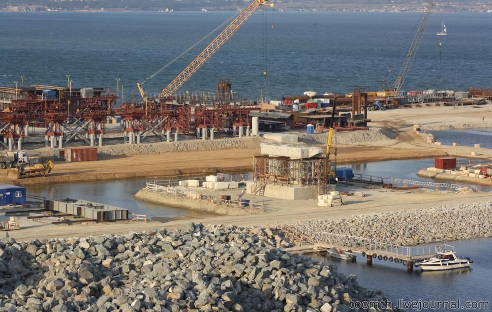 Строительство Керченского моста. Часть 5. 25.08.2016, Крымская сторона. IMG_1663