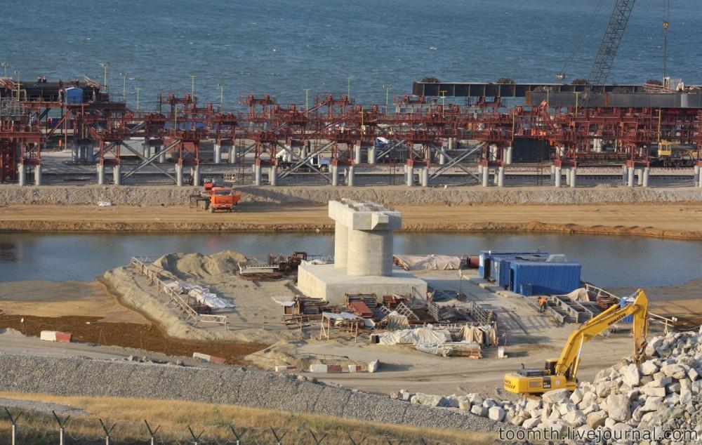 Строительство Керченского моста. Часть 5. 25.08.2016, Крымская сторона. IMG_1665