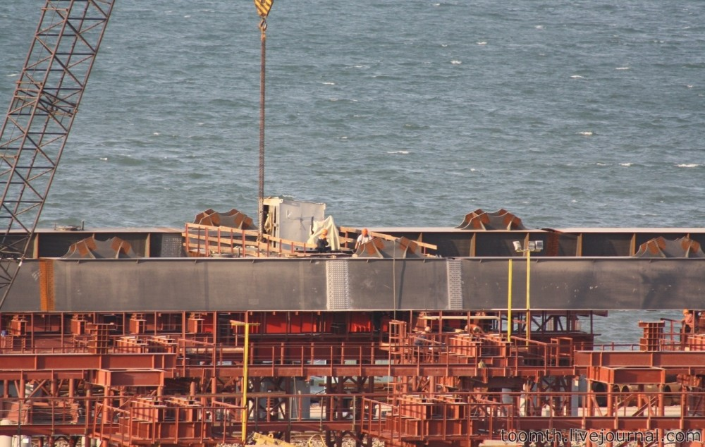 Строительство Керченского моста. Часть 5. 25.08.2016, Крымская сторона. IMG_1669