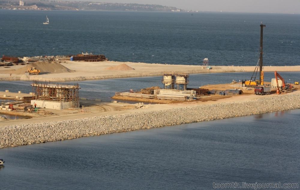 Строительство Керченского моста. Часть 5. 25.08.2016, Крымская сторона. IMG_1674