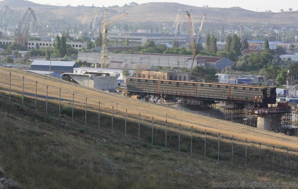 Строительство Керченского моста. Часть 5. 25.08.2016, Крымская сторона. IMG_1730