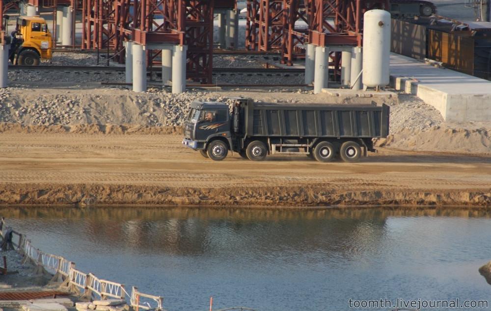 Строительство Керченского моста. Часть 5. 25.08.2016, Крымская сторона. IMG_1775