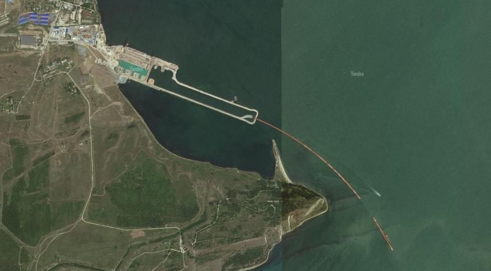 Обновлённые фото Крымского моста со спутника. Яндэкс. 2