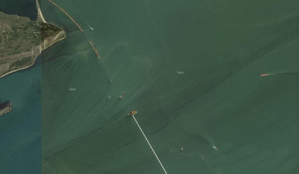 Обновлённые фото Крымского моста со спутника. Яндэкс. 3