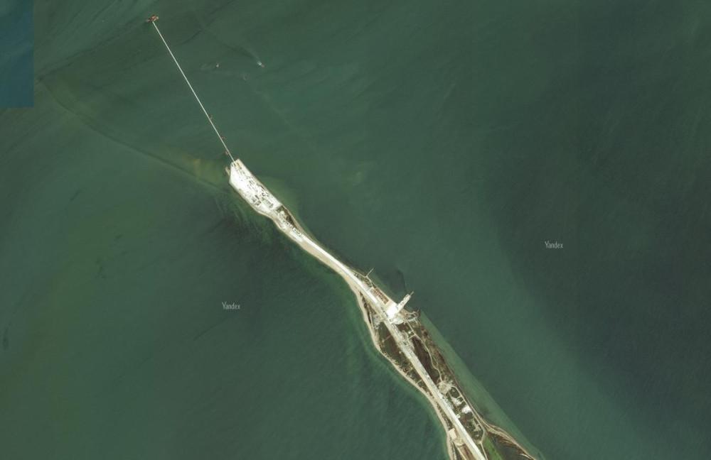 Обновлённые фото Крымского моста со спутника. Яндэкс. 4
