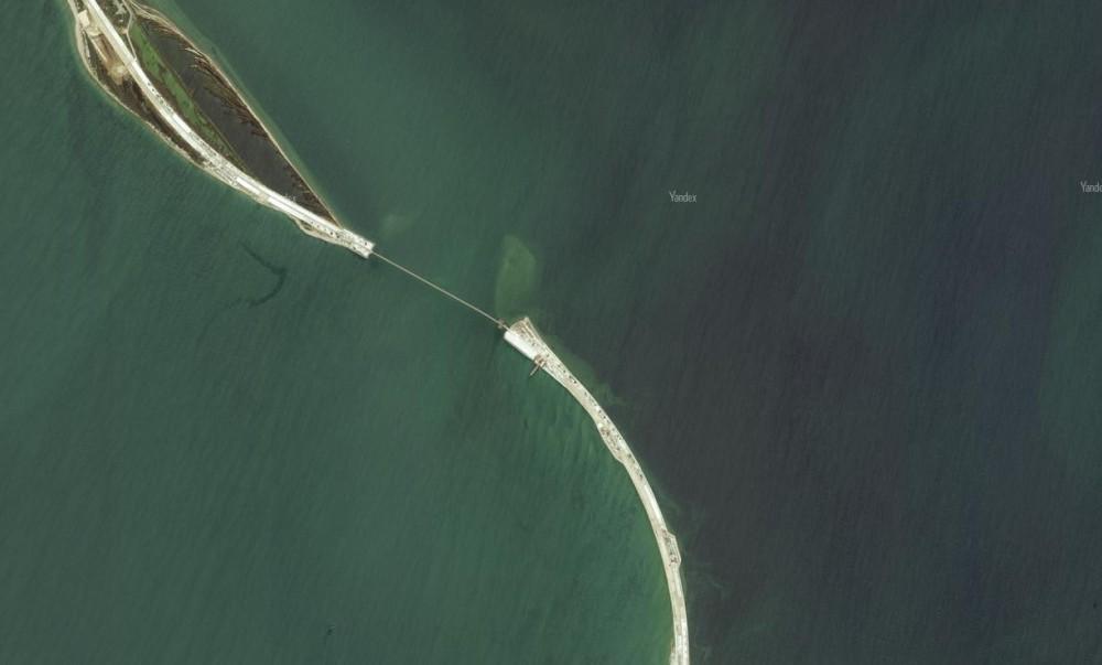 Обновлённые фото Крымского моста со спутника. Яндэкс. 5