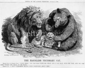 1907 Карикатура на раздел сфер влияния в Персии