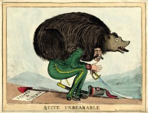 1831 Английская карикатура на взятие Варшавы