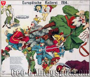 1914 Europäische Keilerei