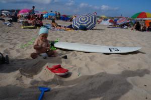 На пляже в Португалии