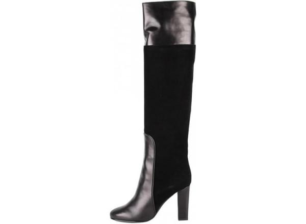 Сапоги на худые ноги. 1005423_sapogi_michel_vivien_maraini_chernyj_zamsha_2