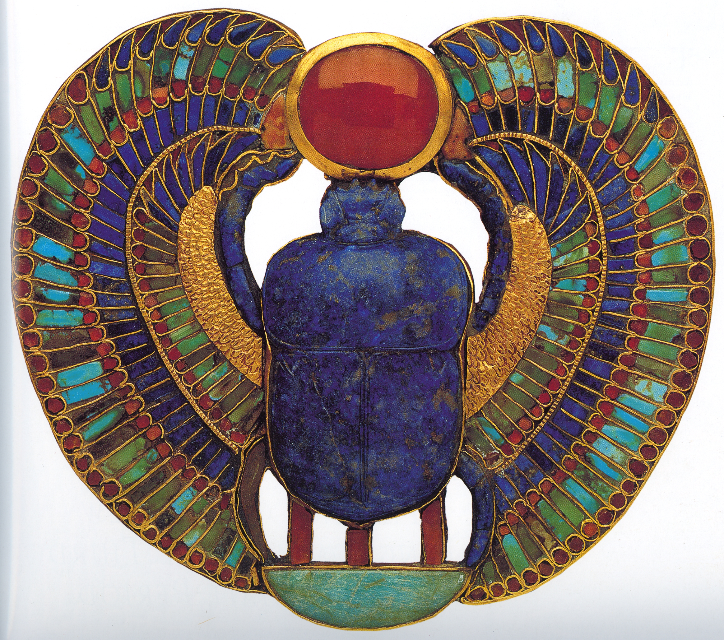 Pectoral with Winged Scarab and Name of King, Tutankhamun Tomb (18th Dynasty, Thebes, Egypt) copy