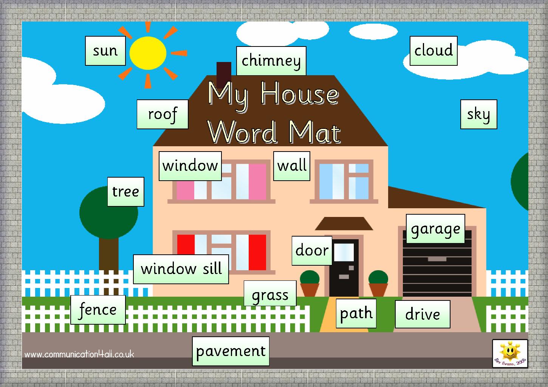 My House Word Mat
