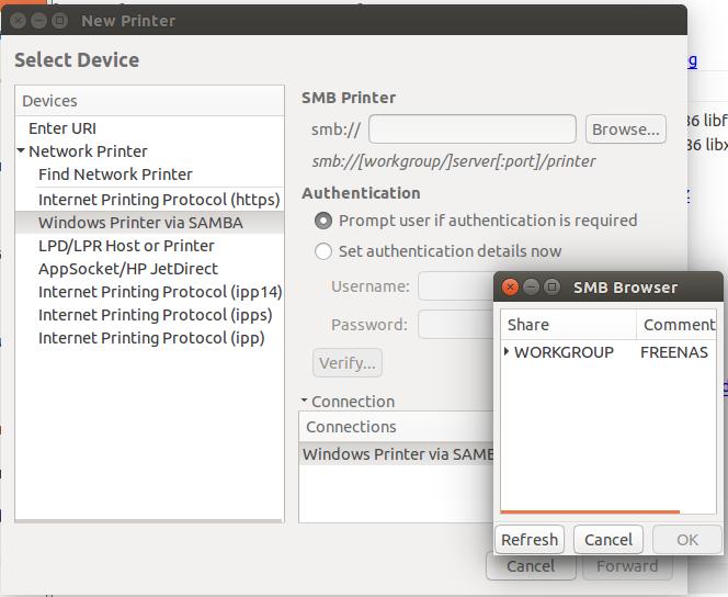 Ubuntu 15 04 підключення принтеру Windows: totoshko88
