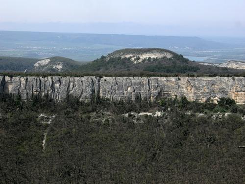 вид из пещерного города Тепе-Кермен