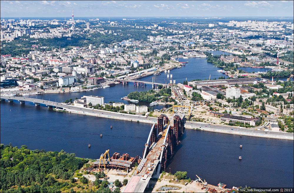 Подол и оба Гаванских моста: