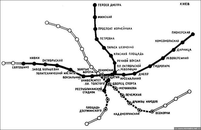 "Схема линий 1982 г. из книги """