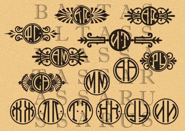 шрифт монограммный