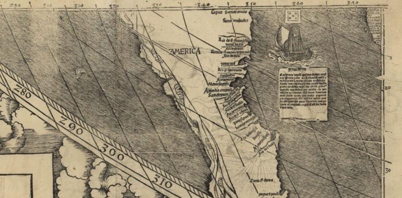 Первая карта, на которой появилось слово «Америка»
