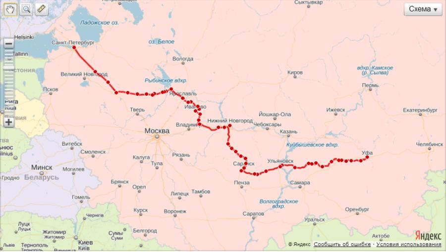 Челябинск-москва станции в пути