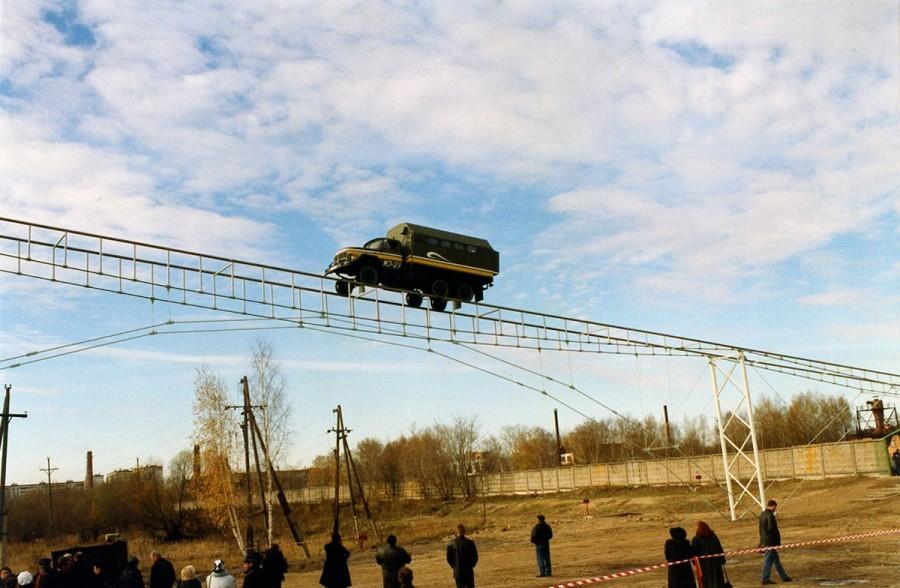 Струнный транспорт Юницкого - полигон в Озёрах