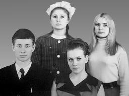 Встреча с братом в Тюмени (Тамара-сестра Юницкого крайняя справа)