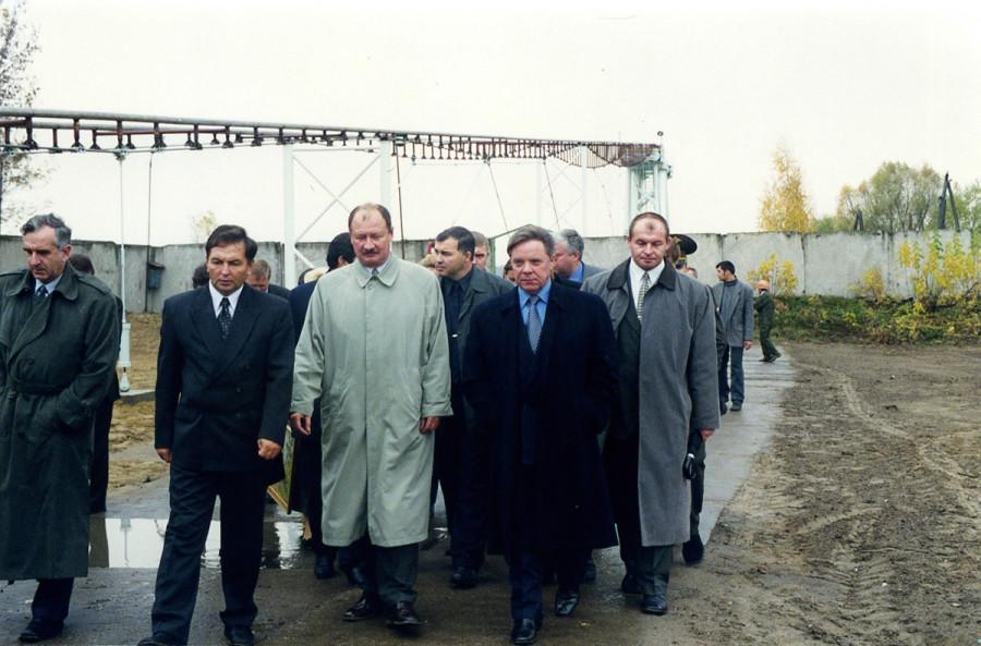 Губернатор Громов в гОзёры на презнтации полигона струнной транспортной системы