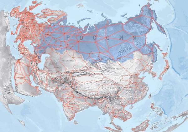 Карта строительства дорог Sky Way