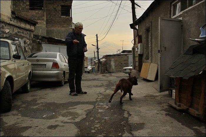 Ереван. Район Конд, вид на Арарат