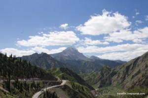Вид в долину с перевала