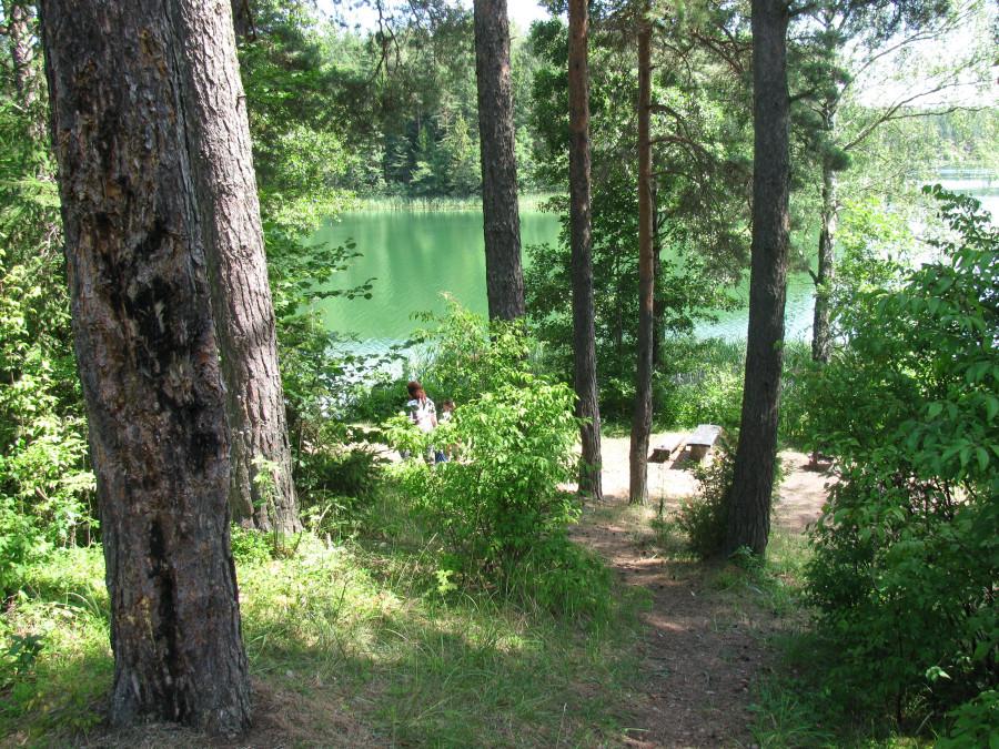 Одно из заповедных озер Браслава