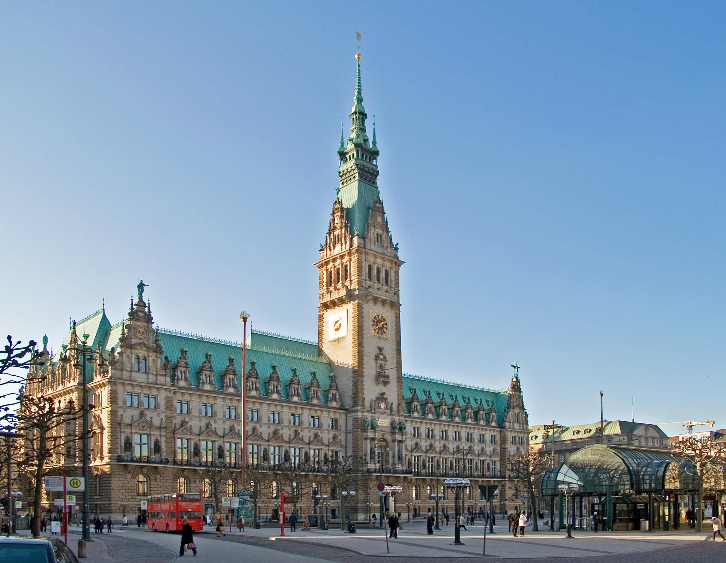 Hamburg-Rathaus-Rathausmarkt