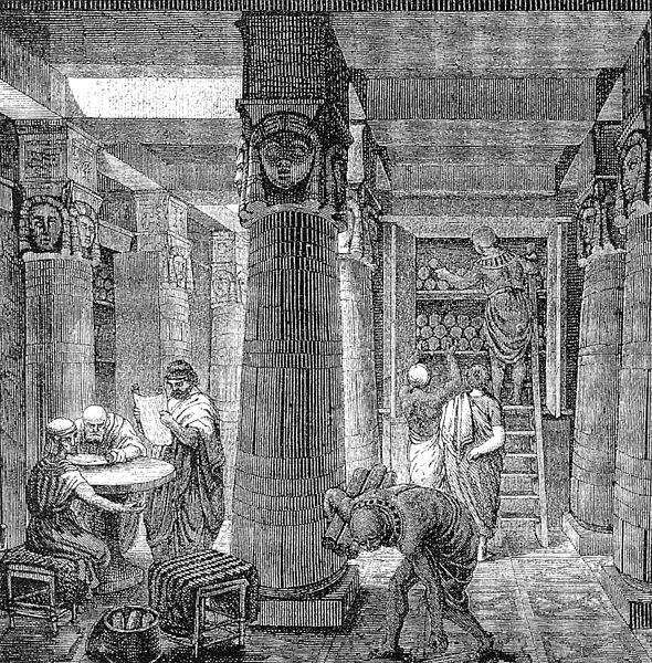 590px-Ancientlibraryalex