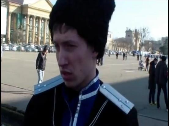 Казак-агитатор-провокатор из Ставрополя