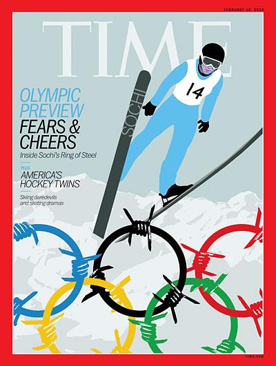 Обложка Тайм посвящена Олимпиаде в Сочи