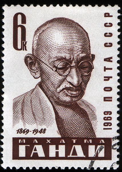 428px-USSR_stamp_M.Gandi_1969_6k