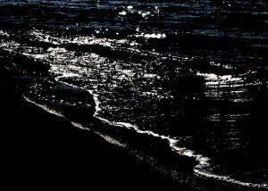Steve Parks waves at night