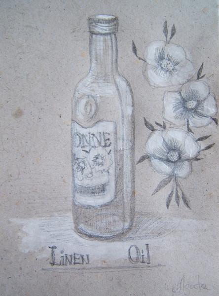 бутылка льняного масла