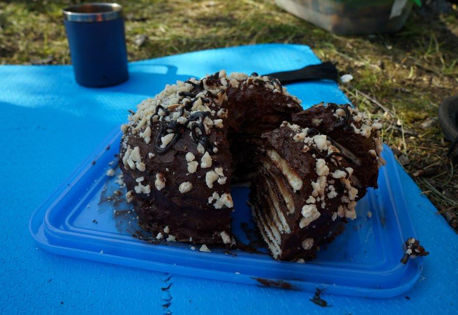 торт настоящий походный