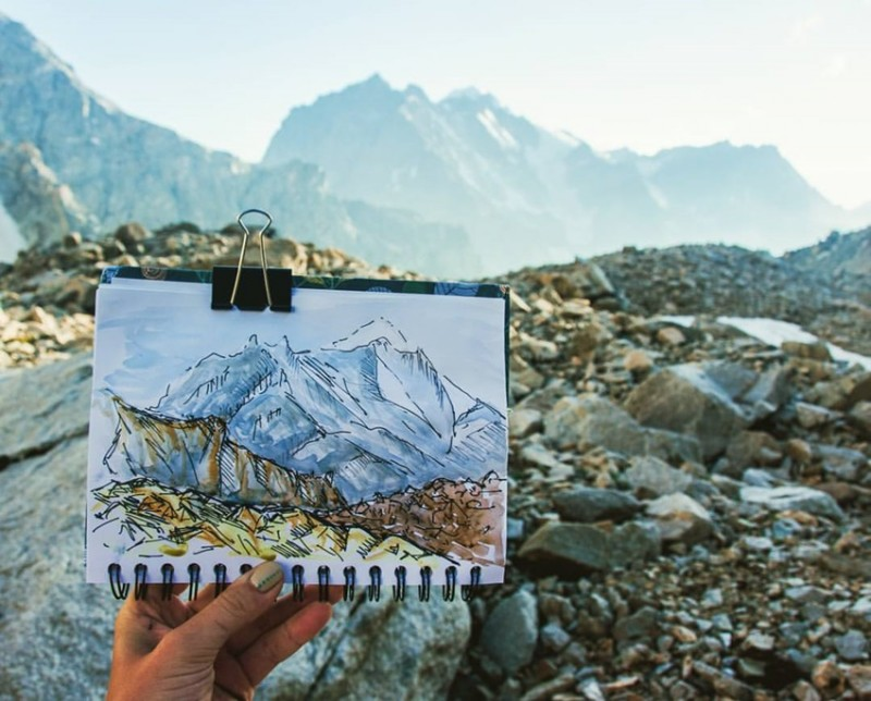 рисунок и Горы