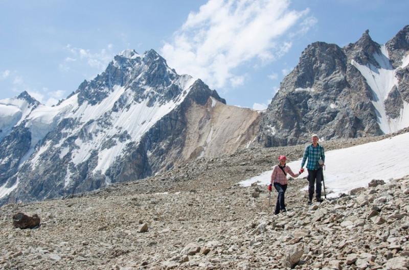 двое на леднике Скаттиком