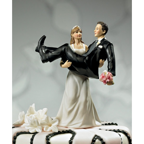 Bride-Lifting-Groom-Funny-Wedding-Cake-Topper