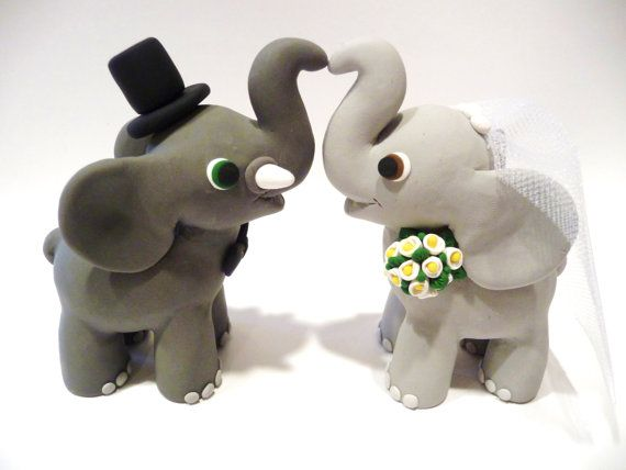 Elephant-Wedding-Cake-Topper-Choose-Your-Colors